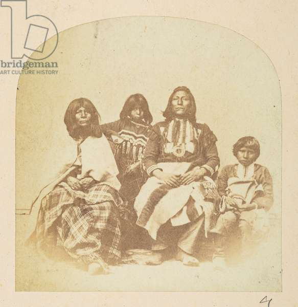 American Indian group, from the Lucas Collection: Photographic record of the world tour of Charles James and Morton P. Lucas, 1877-79 (b/w photo)