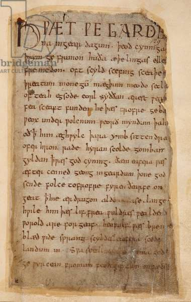 Cotton Vitellius A.XV..132  The beginning of Beowulf