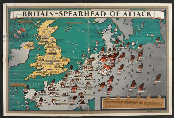 Britain - spearhead of attack. (colour litho)