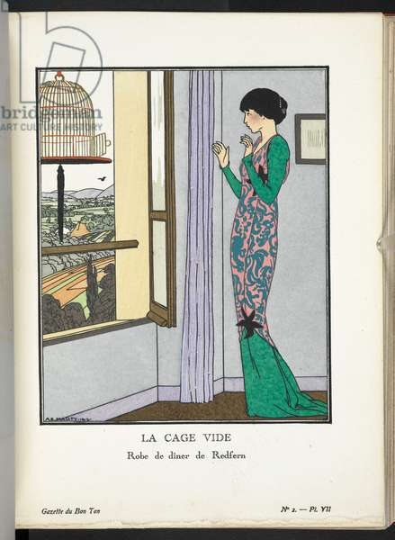 COPYRIGHT André-Edouard Marty (French, 1882-1974), Illustrating design by John Redfern (English, 1853-1929),