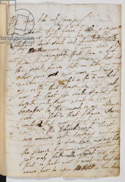 First page of a letter from George Villiers to King James I, 29 August 1623.