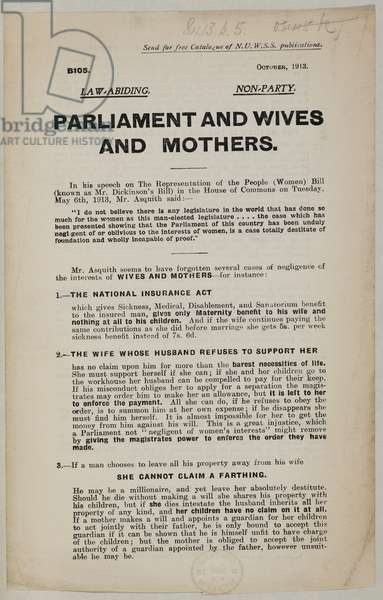 Details of a debate made in the House of Lords on Women's suffrage.