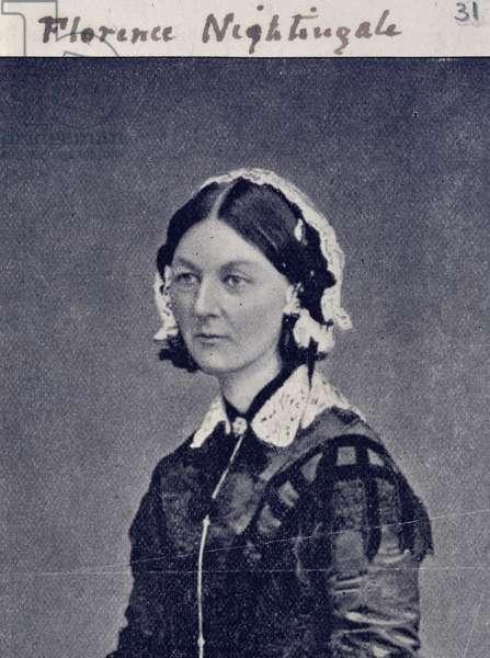 Florence Nightingale (1820-1910) c.1860 (b/w photo)
