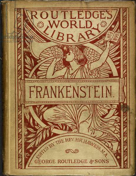 Illustrated Front Cover of 'Frankenstein', by Mary Shelley, 1886