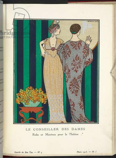"""""""Le Conseiller des Dames - Robe et Manteau pour le Théâtre."""""""