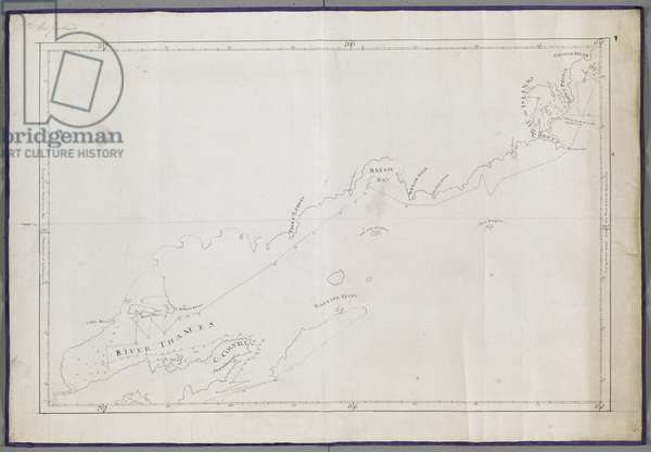 Add MS 11803 H A Chart of the north-east coast of New Zealand from Cape Colville to Cavalli Islands, Nov-Dec 1769 (ink on paper)