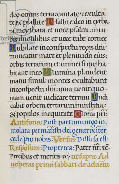 Text page; Psalm 97