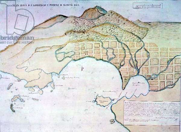 Bay of Monterey, late 18th century plan, c.1770 (pen & ink on paper)