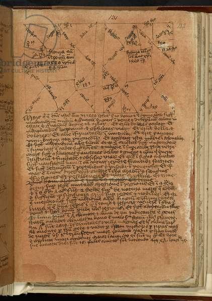 Sloane Ms 428 fol.132 Richard Trewythian's annual revolution for 1448 (vellum)