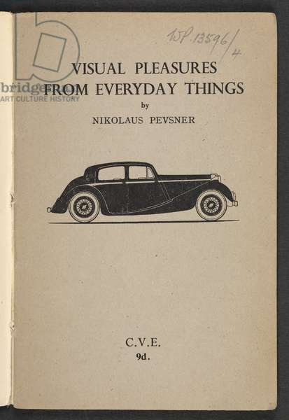 Visual Pleasures from Everyday Things, by Nikolaus Pevsner, 1946 (litho)