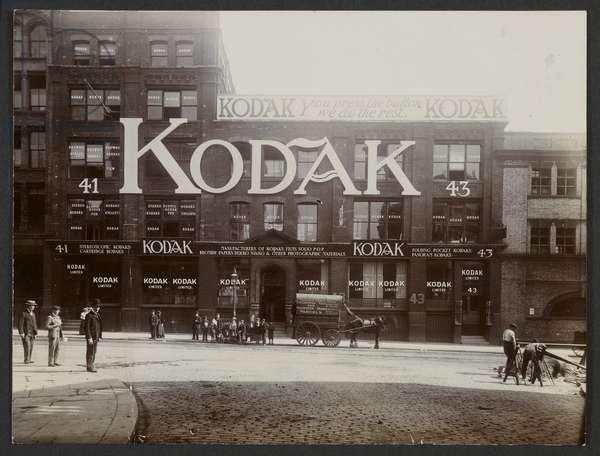 Kodak Head Office, Clerkenwell Road, London, c.1902 (b/w photo)