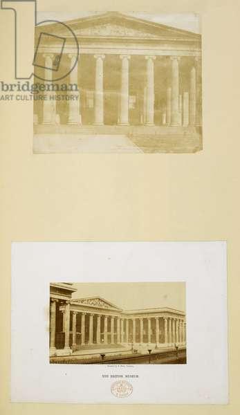 Portico of the British Museum, London, 1850-59 (albumen print)