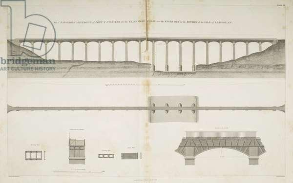 Pontcysyllte Aqueduct, from 'Atlas to the life of Thomas Telford', 1838 (engraving)
