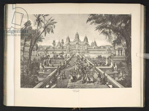 Angkor Wat, from 'Voyage au Cambodge, L'architecture khmer ... Ouvrage orné de 175 gravures et d'une carte, etc.' Louis Delaporte, Paris, 1880 (engraving)