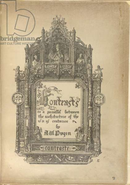 Frontispiece from Pugin's (1836) 'Contrasts…'