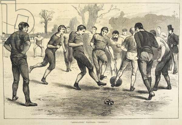 """""""Association"""" football: """"dribbling""""."""