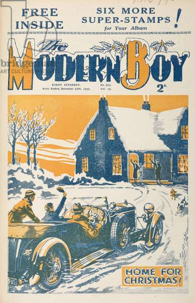 Front Cover of 'The Modern Boy', December 24th 1932 (colour litho)