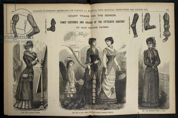 Dress, coats and sleeves.Weldon's Illustrated Dressmaker : (Weldon's Illustrated Dressmaker and Milliner.).1880