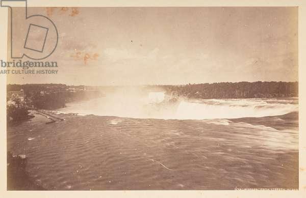 Niagara from Street's Island, 1870s (b/w photo)