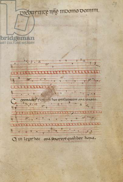 Colophon set to music (vellum)