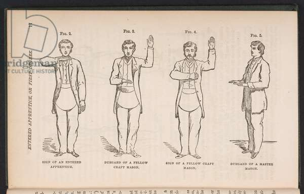 Duncan's Masonic Ritual and Monitor; or, guide to the three symbolic degrees of the ancient York Rite, etc., 1866 (engraving)