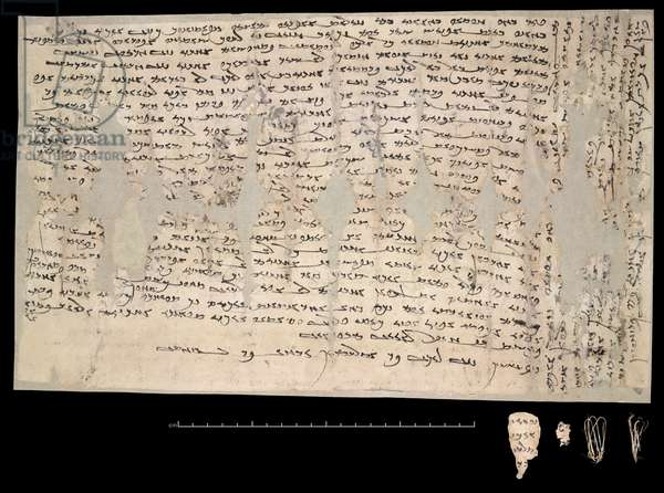 Or.8212/92 Letter by a woman Miwnay in which she chides her husband for leaving her destitute in Dunhuang, one of the earliest surviving Sogdian paper documents, c.313 CE (parchment)
