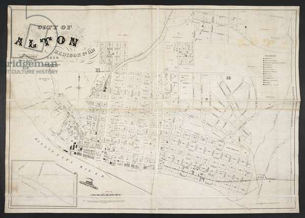 A map of Alton, Madison County, Illinois