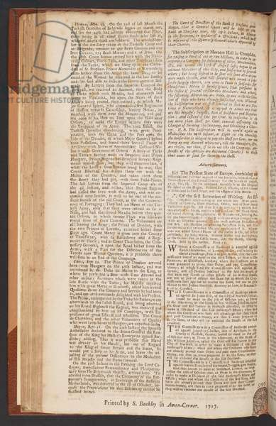 The London Gazette, issue 5573, page 2, 14th September 1717 (print)