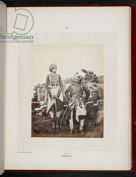 Bhats, Bombay, 1856-60 (b/w photo)