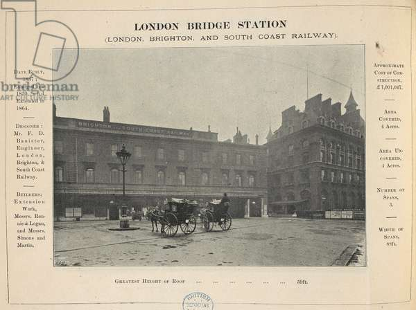 London bridge station. (London, Brighton and south coast railway.)