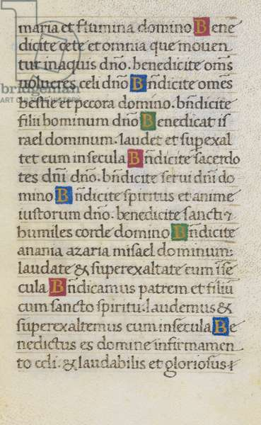 Text page; Benedicite