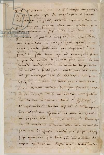 Zweig MS 97 f.1v Letter to the publisher Tito Ricordi, Rome, 4 Feb 1859 (ink on paper)