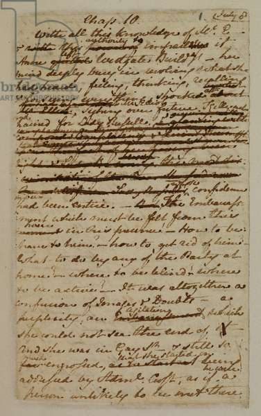 MS EG 3038 F.1 from Chapter 10 of 'Persuasion', 1816 (ink on paper)