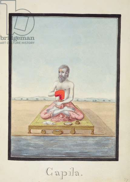 MSS EUR C 116/1 f.77r The sage, Kapila, from the Hindu epic the 'Adhyatma Ramayana', 1802, (w/c on paper)