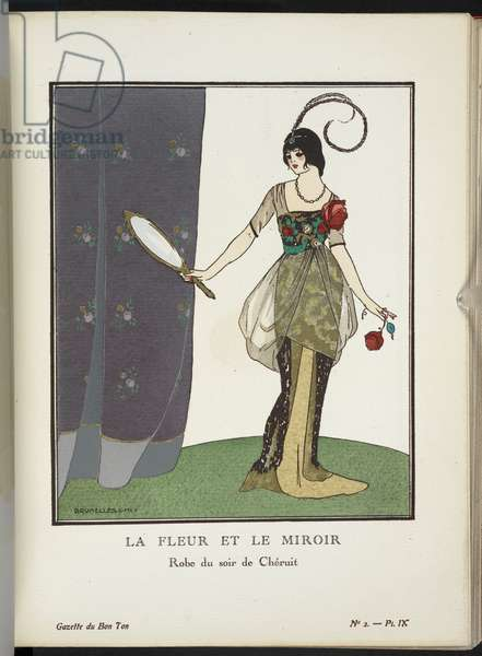 COPYRIGHT. Umberto Brunelleschi (Italian (active in Paris), 1879-1949), Illustrating design by Madeleine Chéruit (French, died 1935),