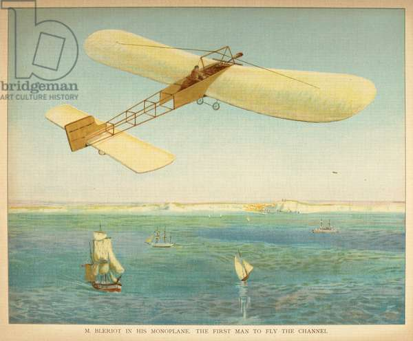 M. Bleriot in his monoplane. The first man to fly the channel. Little people's book of airships. London : Ernest Nister, [1912]