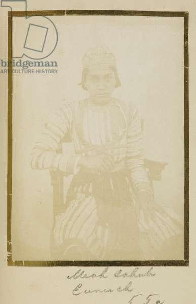 [Portrait of] Meah Sahub, Eunuch, c.1856-57 (b/w photo)
