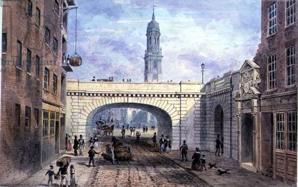 Entrance to Old Fishmongers' Hall from Thames St. (print)