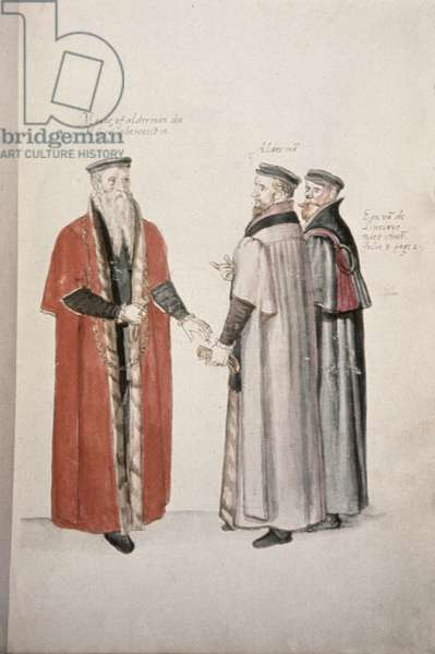 Add 28330 f.30 Lord Mayor, alderman and liveryman, by Lucas de Heere (1534-84), late 16th century