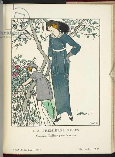 """""""Les Premières Roses - Costume Tailleur pour le matin."""""""