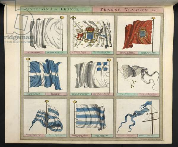 Pavillons de France. Various flags.