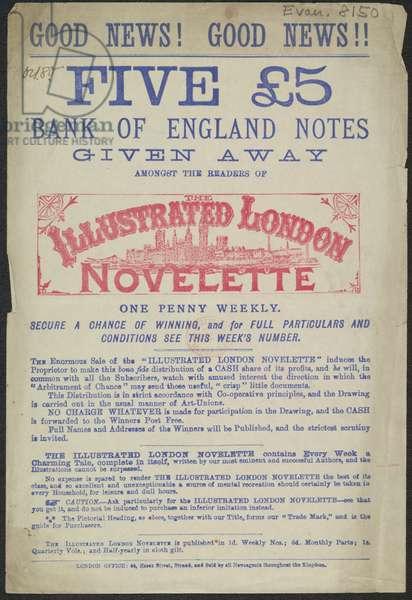 Advert for the Illustrated London Novelette, 1880 (print)