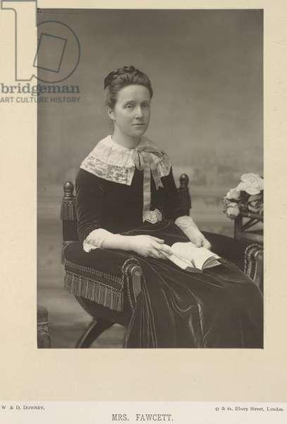 Dame Millicent Fawcett, née Garrett (1847-1929). English suffragette and educational reformer. Portrait.