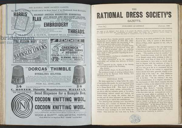 The Rational Dress Society's Gazette, January 1889 (litho)