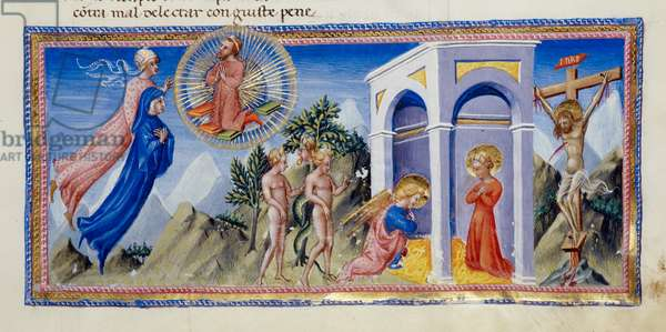 Yates Thompson 36 f.141 The Mystery of the Redemption, from 'Dante's Divine Comedy' (vellum)