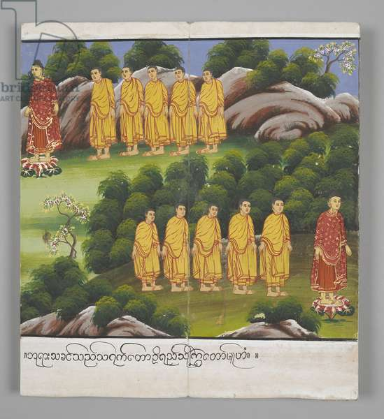 Or. 13534, f.20, Scenes from the Life of Buddha (parchment)