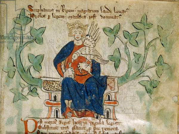 King Stephen with hawk
