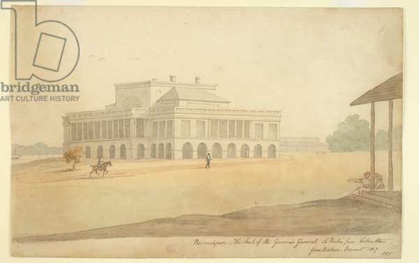 Barrackpore Park. The Seat of the Governor General, November 1807 (w/c on paper)