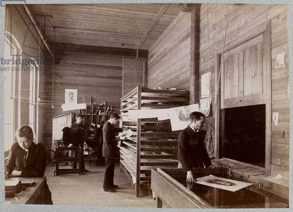 Printing at Kodak (b/w photo)
