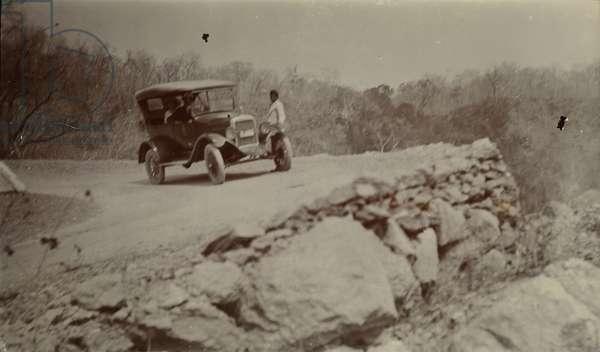 A car on the Maymyo-Mandalay road